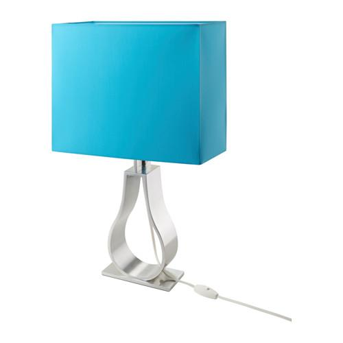Modern table lamps for contemporary homes founterior blue table lamp with modern shader aloadofball Choice Image