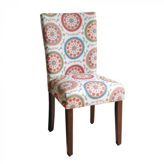 Colorful dining chair - with hippie accents