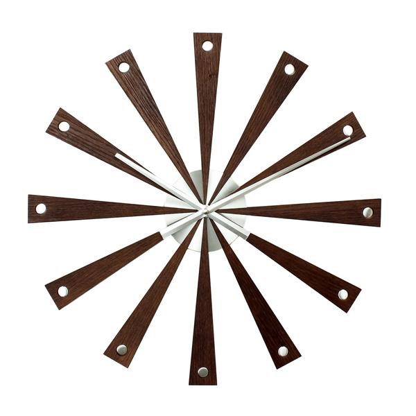 Contemporary wall clock - with wood panels