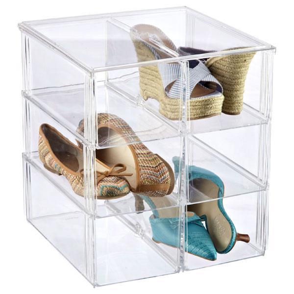 Fiberglass closet organizer - for storing shoes