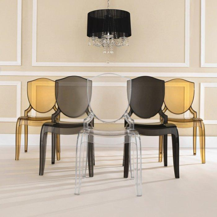 Fiberglass dining chair - in different colors