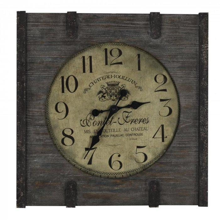 French wall clock - made of wood