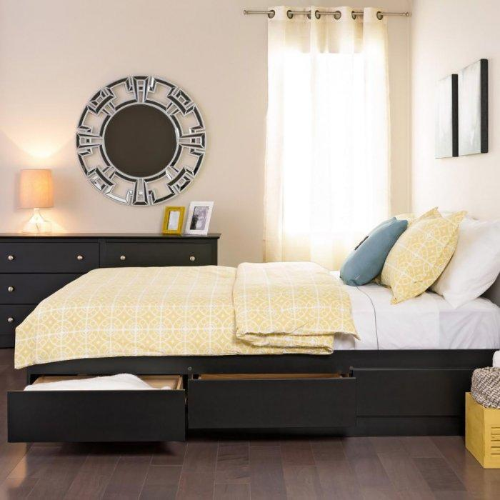 Functional platform bed - with storage