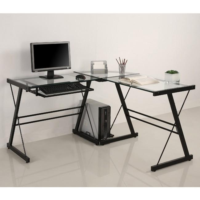 Glass corner desk - l-shape