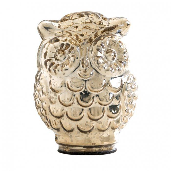 Glass owl figurine - with large eyes