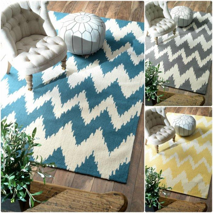 Graphic area rug - in different colors
