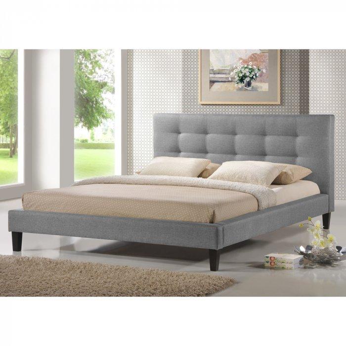 Gray platform bed - with modern design
