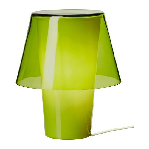 Green table lamp - from IKEA