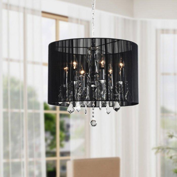 Luxurious crystal chandelier - with black shader