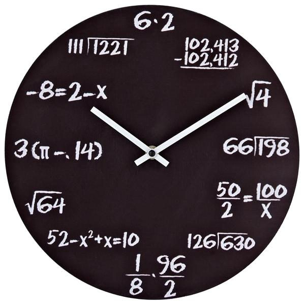 Math wall clock - with formulas