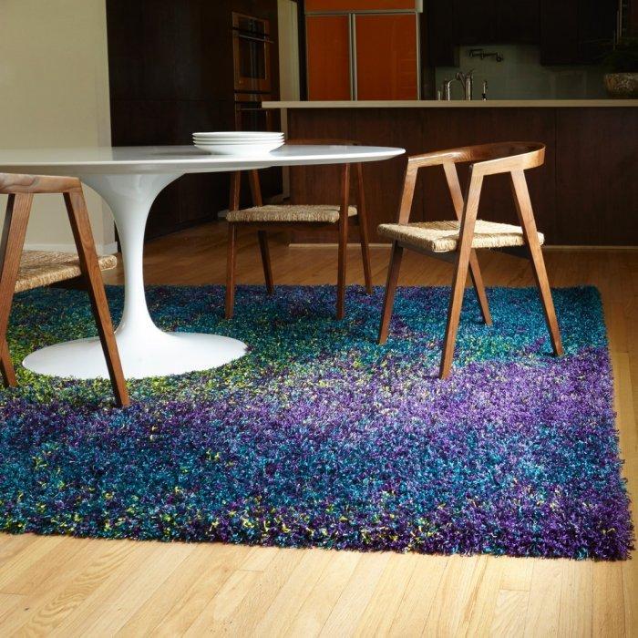 Modern area rug - in dark blue
