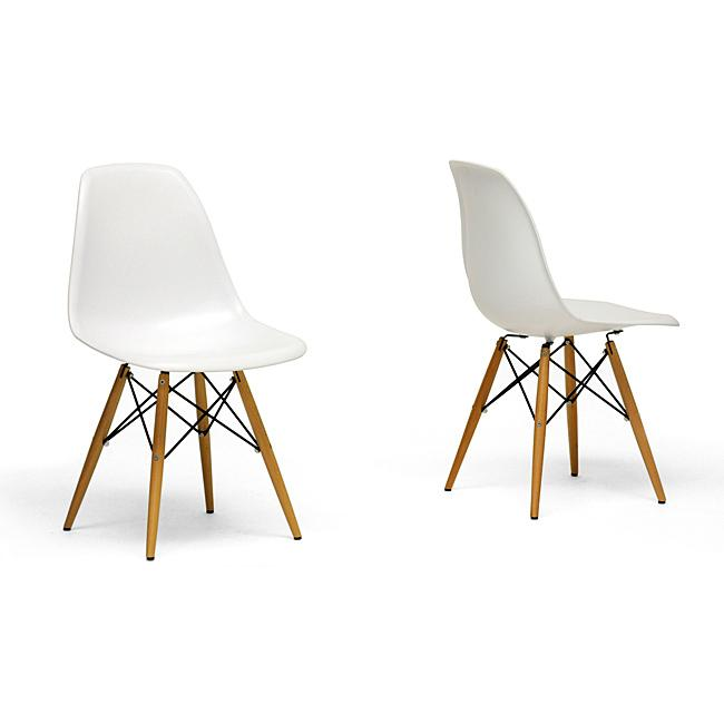 Dining chairs classic and modern examples founterior for Contemporary white dining chairs