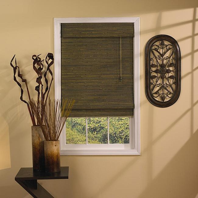 Natural wood bedroom blind - in brown