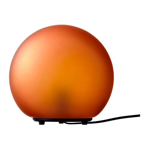Orange table lamp - like a ball
