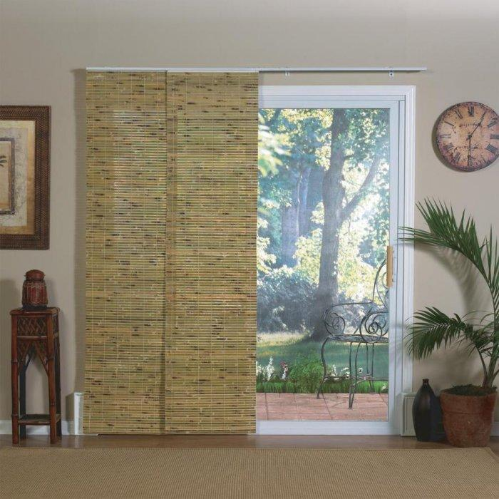 Sliding bedroom blind - made of natural bamboo