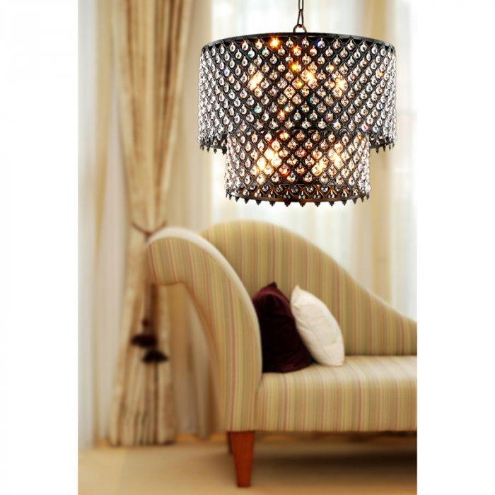 Stylish crystal chandelier - with oval shape