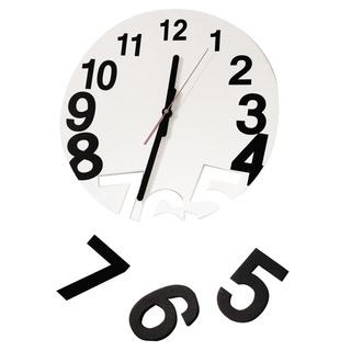 Surrealist wall clock - with falling numbers