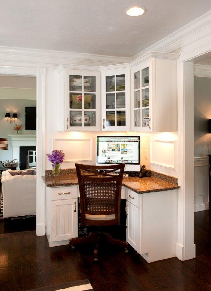Transitional corner desk - with granite countertop