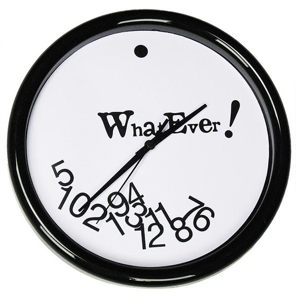 WhatEver wall clock - black and white