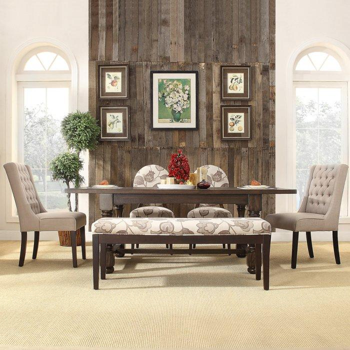 White dining chair - inside a traditional American dining room