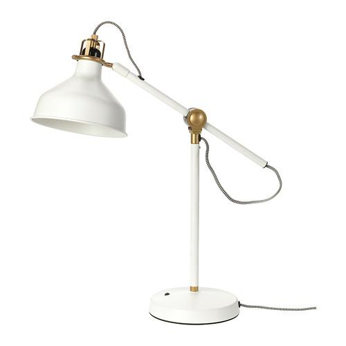 White work table lamp - with Scandinavian design