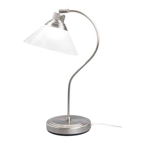 Work table lamp - with nickel arm
