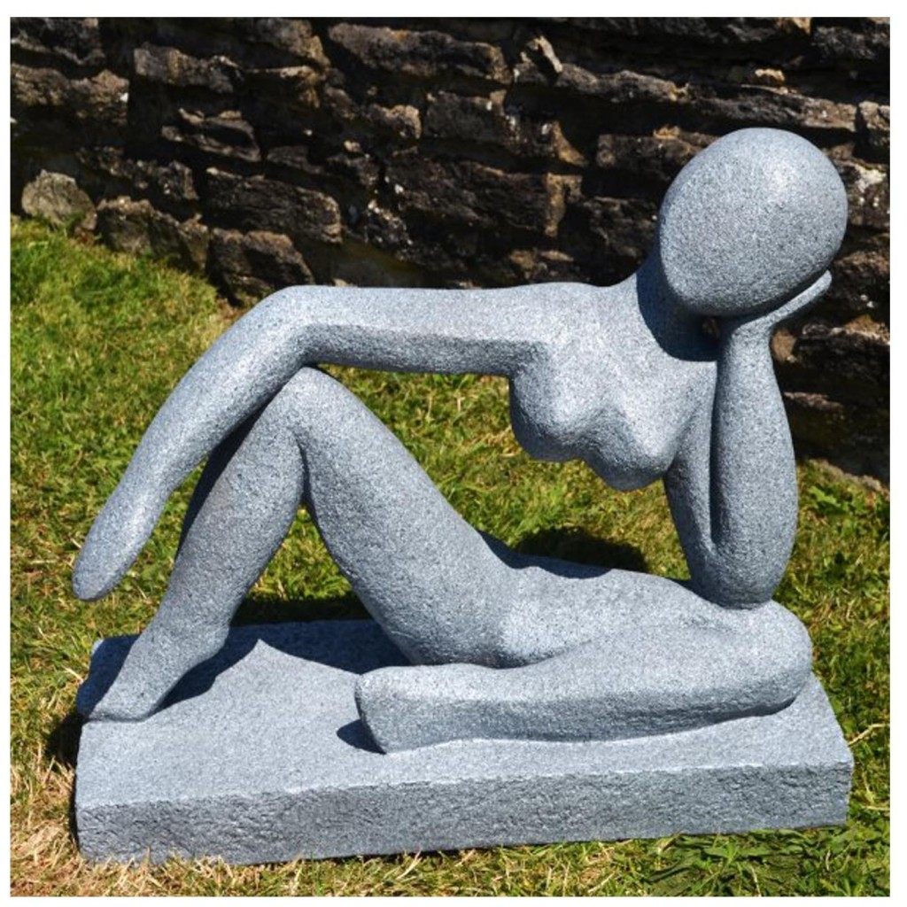 Abstract garden sculpture - laying man