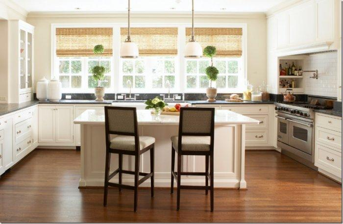 Bamboo kitchen blinds - light color