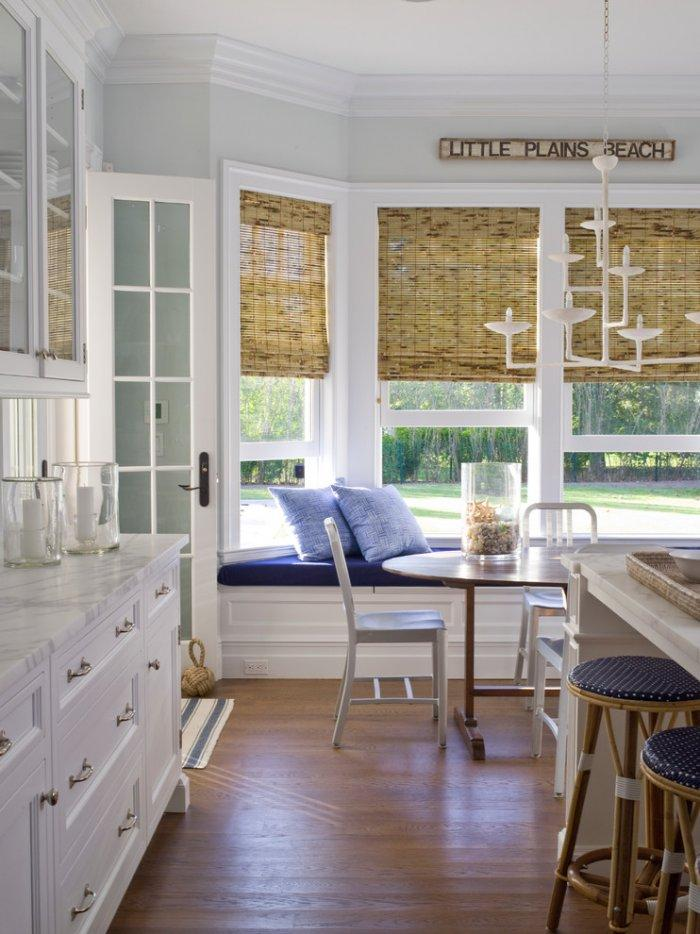 Beach style kitchen blinds - made of bamboo