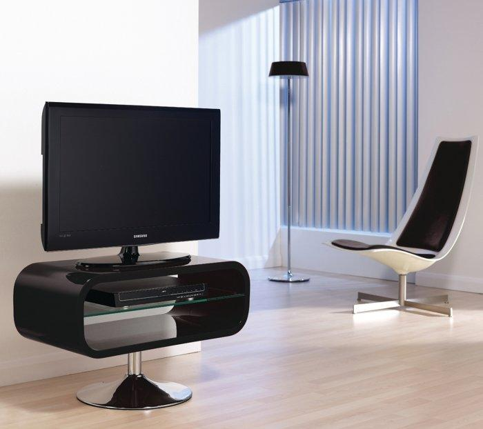 Black TV stand - with contemporary design