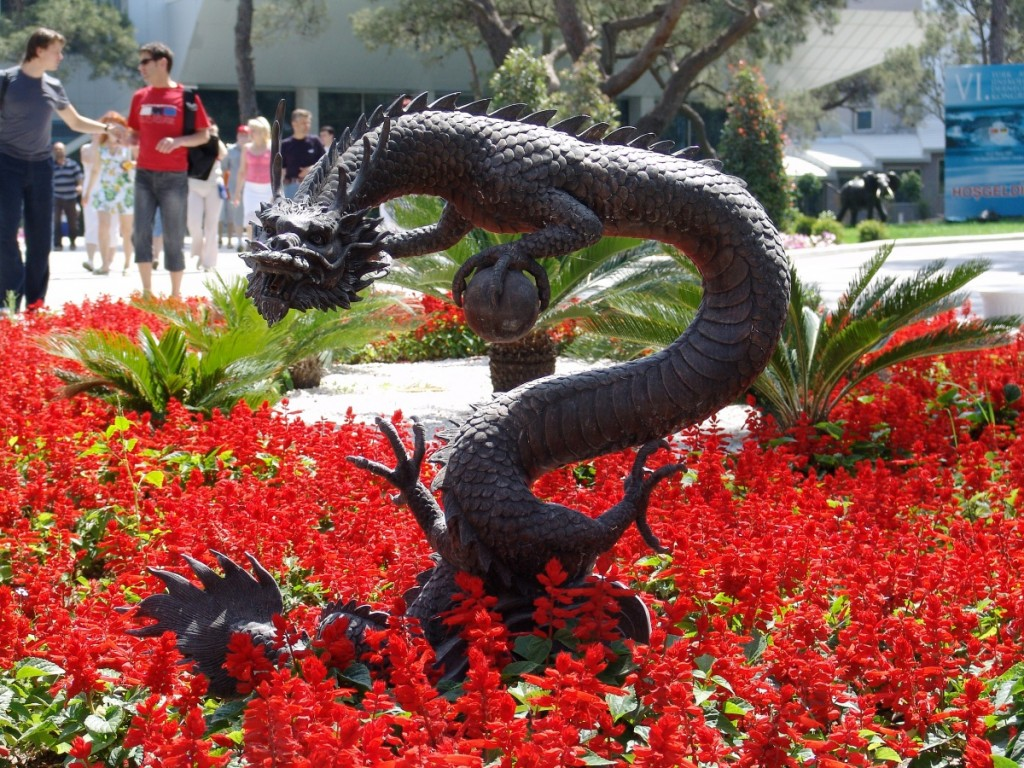 Chinese garden sculpture - dragon