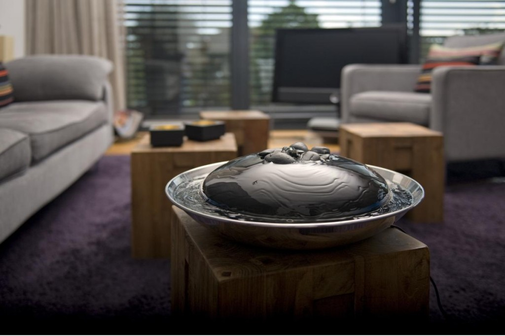 Contemporary indoor fountain - for living room