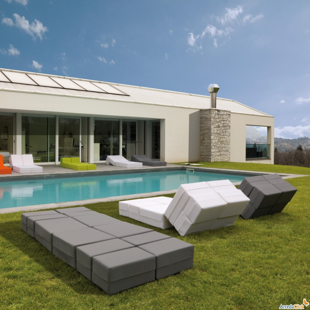 ultramodern outdoor chaise lounges for relaxation  founterior - contemporary outdoor chaise lounge  in grey and white