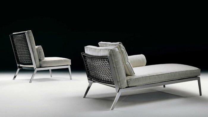 Industrial outdoor chaise lounge - a set of two