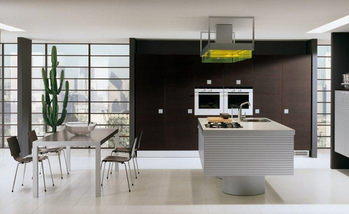 Minimalist kitchen blinds - in a loft