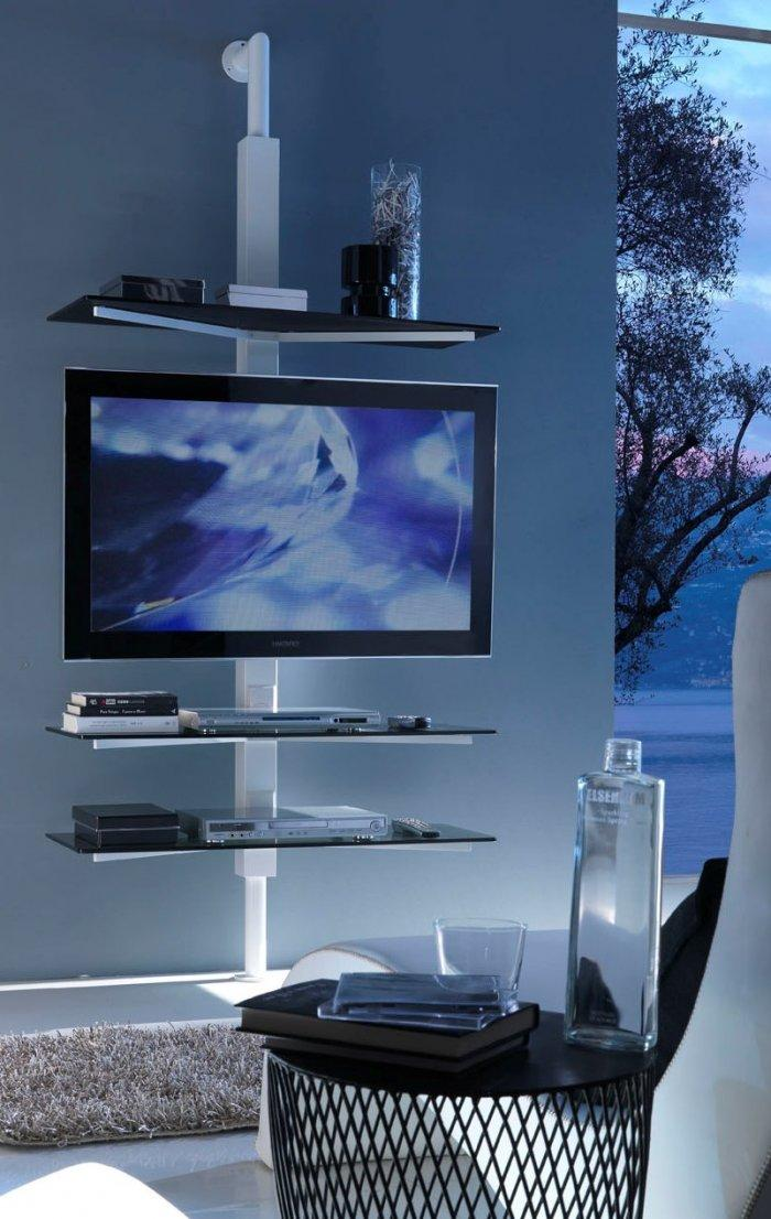 Modern TV stand - with two shelves