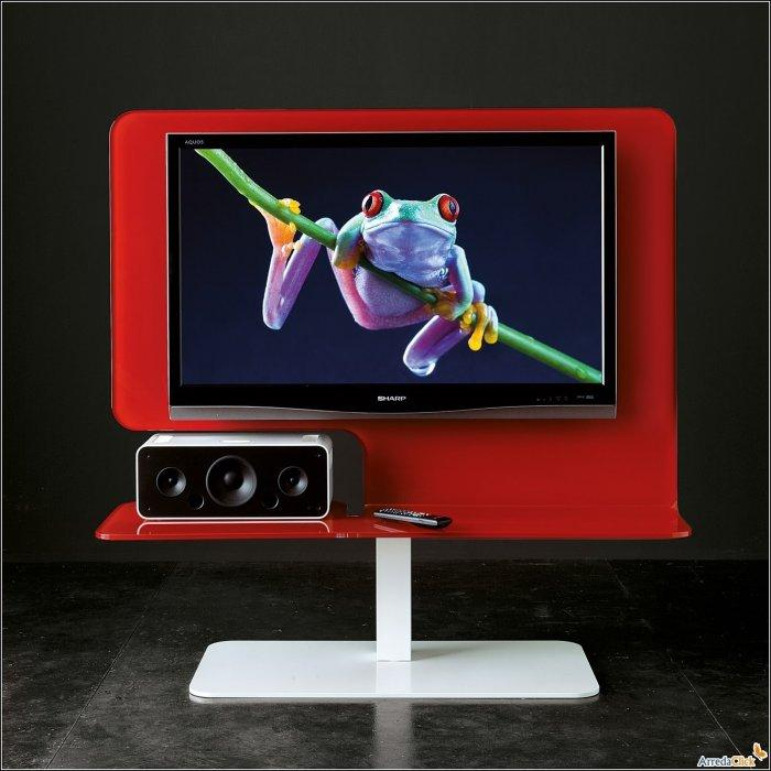 Red TV stand - for modern sets