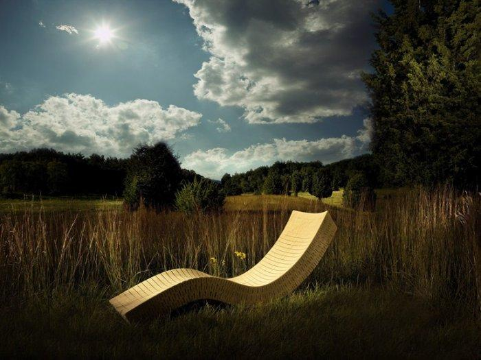 Utra-stylish outdoor chaise lounge - high quality