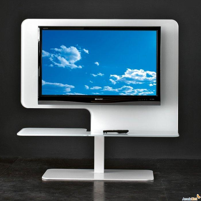 White TV stand - for contemporary sets