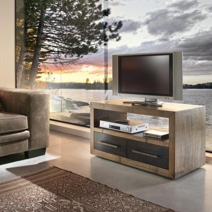 Wooden TV Stand With Modern Design Founterior