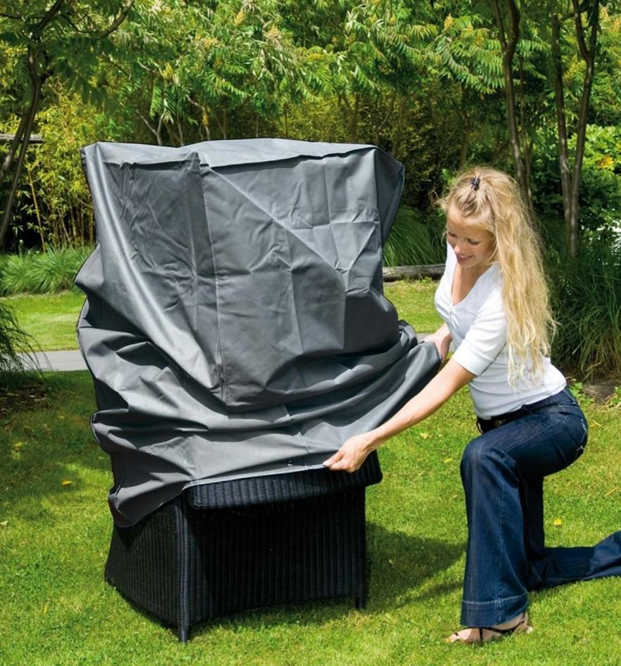 Armchair patio furniture cover - dark color