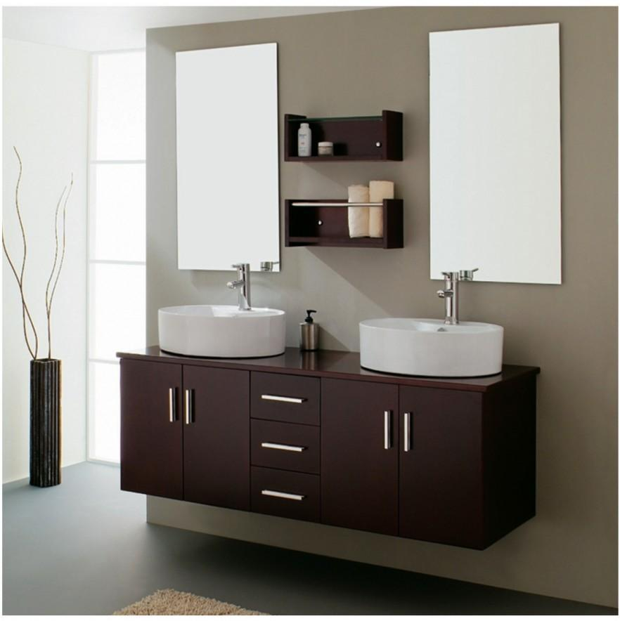 Brown bathroom vanity - with modern design