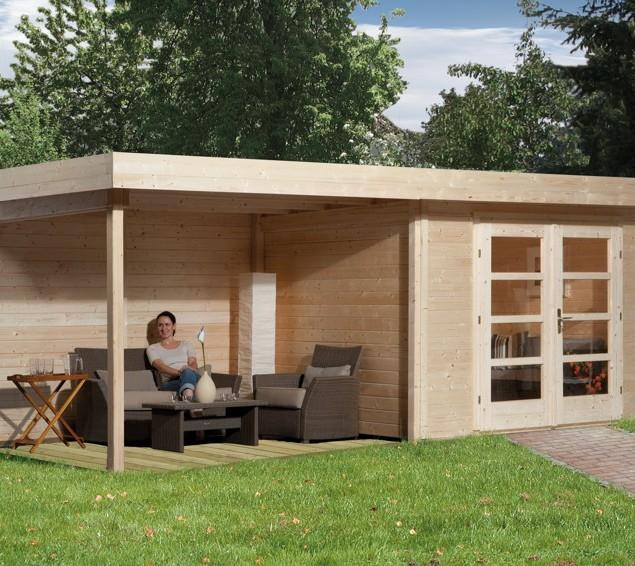 Comfortable garden shed - with furniture