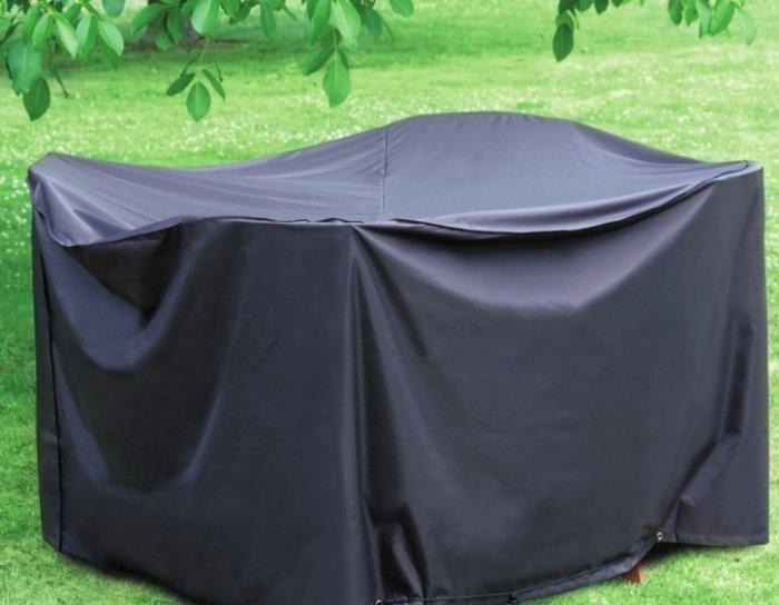 Dark patio furniture cover - for table