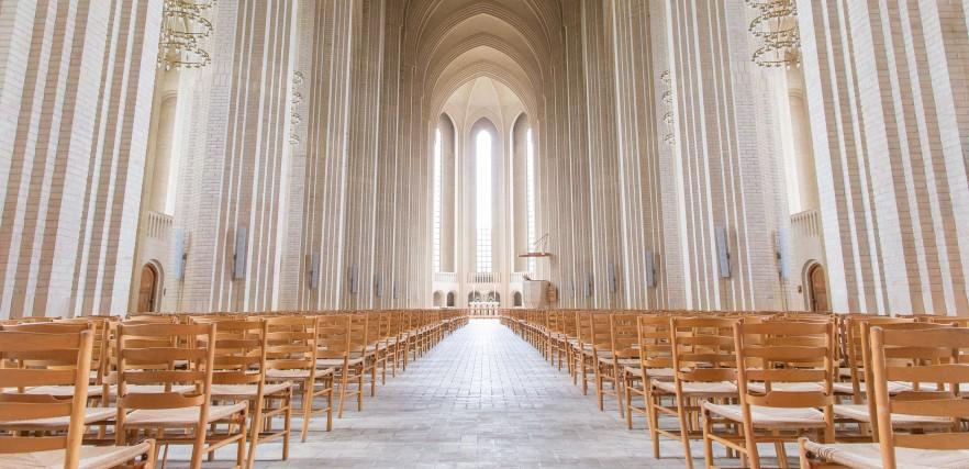 Italian church chairs - in cathedral