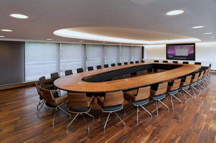 Large conference room table contemporary design founterior for Modern conference room interior designs