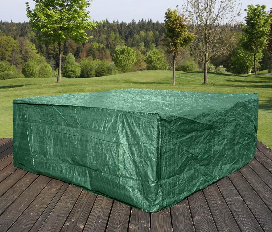 Large patio furniture cover - in green color