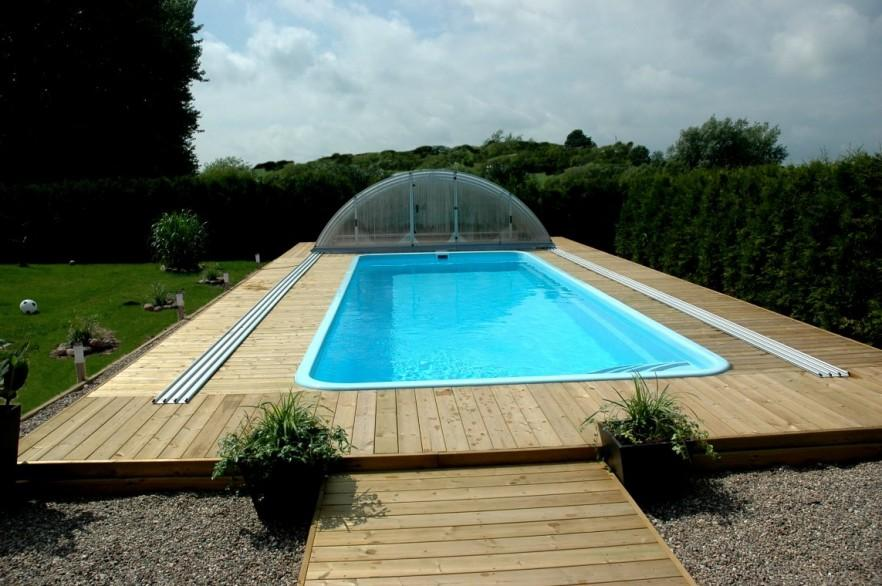 Large swimming pool - in the backyard