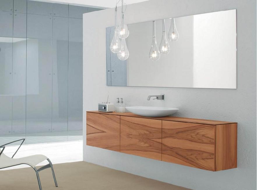 Modern bathroom vanity - wooden doors