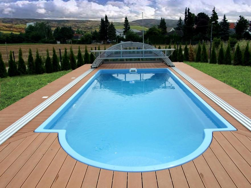 Modern swimming pools for backyard or front garden for Poolbecken rund
